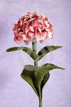 Crochet Flowers Blue Hydrangea