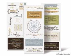 Creative Memories   Nancy O'Dell Gratitude Title Stickers  #Scrapbooking
