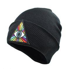 9684d5e3ac8 CLIMATE Illuminati Gravity Falls Men Women Winter Warm Beanie Hats Gravity  Falls Bill Dipper Rainbow Eyes