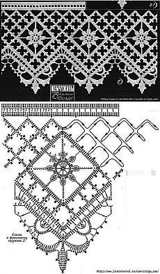 Filet Crochet, One Skein Crochet, Form Crochet, Crochet Diagram, Thread Crochet, Irish Crochet, Crochet Stitches, Free Crochet Doily Patterns, Crochet Lace Edging