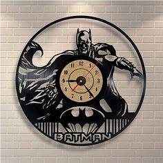 Black Classic Old Record Concept Wall Clock Antique Retro CD Batman Vinyl Clocks Quartz mechanism Wall Clock Gift, Clock Decor, Novelty Clocks, Record Crafts, Marvel Comics, Recording Studio Design, Record Clock, Home Studio Music, Unique Wall Clocks