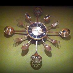 DIY servingware clock