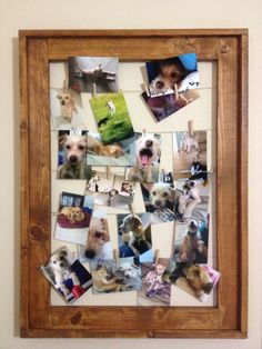 SALE Wooden Clothesline Clothespin Picture Frame  by CLDecor, $30.00