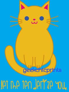 Silly Cat Digital Art Funny Rude Kitsch Kawaii Downloadable Digital File Typography Inappropriate Loaves