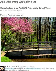 Yasmine Vaughan won the April Photo Contest with this lovely photo. Congratulations to the photographer.