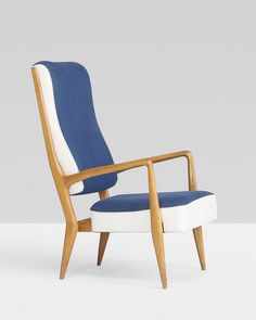 Gio Ponti; #589 Maple Lounge Chair for Cassina, 1955.