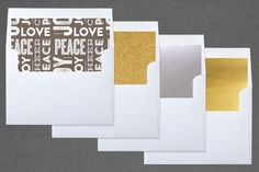 """""""The Festive Type"""" - Modern, Typography Letterpress Holiday Photo Cards in Smoke by Lauren Chism."""