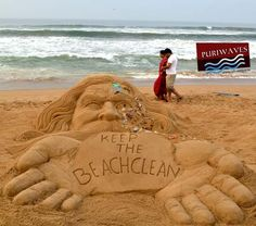 keep the Beach Clean - Sand Art by puriwaves, via Flickr
