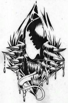 Breakthrough Venom Is he coming out of a vag**a? Marvel Tattoos, Spiderman Tattoo, Spiderman Art, Marvel Venom, Marvel Villains, Marvel Art, Marvel Comics, Venom Tattoo, Venom Art