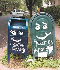 mailboxes in love.  denver.