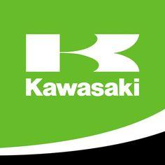 Kawasaki just uses the letter and name. Kawasaki Zx7r, Kawasaki Ninja 300, Motocross, Motorcycle Logo, Motorcycle Decals, Cube Car, Moto Logo, Bike Poster, Kawasaki Motorcycles