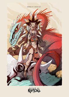 Raised by Raptors comic