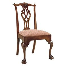 Yoke-backed Chippendale chair
