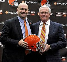 Jimmy Haslam:owner of the Cleveland Browns Mike Pettine: New Head Coach of Cleveland Browns