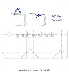 Shopping bag template, blank