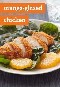 Orange-Glazed Chicken – Chicken breasts get a sweet and citrusy punch, thanks to orange marmalade and thin slices of real navel oranges.