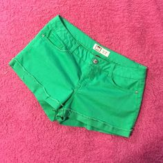 LEI green shorts size 15 Money colored green-juniors size 15, 60% cotton, 38%polyester so they have a bit of a stretch to them lei Shorts Jean Shorts