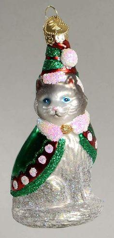Merck Family'S OLD World Christmas Ornament ELF Kitty 10279828 | eBay