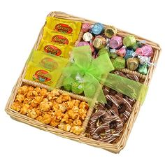 Broadway Basketeers Easter Basket 5 Section Chocolate Easter Gift Tray Easter Basket Assortment Springtime Easter Gift Tray ** Check out the image by visiting the link. Peanut Butter Filling, Reeses Peanut Butter, Chocolate Sweets, Easter Chocolate, Bavarian Pretzel, Lindt Truffles, Pop Corn, Basket Tray, Gourmet Popcorn