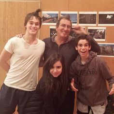 """Cameron Boyce's dad (Victor Boyce) snapped a photo of his son with his """"Descendants"""" co-star Sofia Carson and more today (May He wrote with this Cameron Boyce, Victor Boyce, Disney Channel Descendants, Descendants Cast, Kenny Ortega, Disney Decendants, Disney Stars, Dove Cameron, Actors & Actresses"""