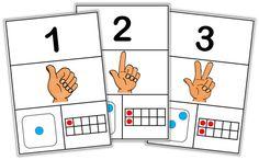 Bonsoir tout le monde ! Ce soir, un petit affichage que j'ai créé pour renouveler l'affichage des nombres dans ma classe : écritures numériques, représentation avec les doigts, c… Montessori Preschool, Preschool Worksheets, Creative Activities, Activities For Kids, Cycle 1, Kindergarten Freebies, Math For Kids, Numeracy, Elementary Math