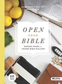 """Open Your Bible"" Bible Study Book by She Reads Truth available on lifeway.com - $14.99. FREE Companion Notebook if purchased during the month of November."