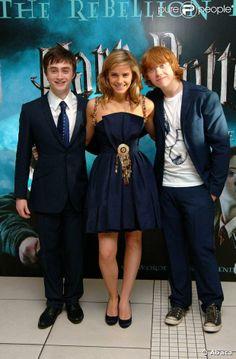 Daniel Radcliffe, Emma Watson et Rupert Grint