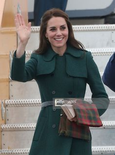 Catherine, Duchess of Cambridge arrive in Whitehorse during the Royal Tour of Canada on September 27, 2016 in Whitehorse, Canada. Prince William, Duke of Cambridge, Catherine, Duchess of Cambridge, Prince George and Princess Charlotte are visiting Canada as part of an eight day visit to the country taking in areas such as Bella Bella, Whitehorse and Kelowna.  (Photo by Danny Martindale/FilmMagic)
