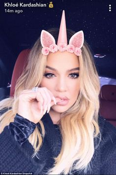 Wow: Khloe shared selfies on her Snapchat account as well, much to the delight of fans