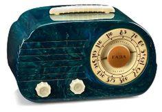 """Fada """"Cloud"""" Catalin Radio 1946 Bakelite Antique; Time, Classic Cloud Catalin, Deco Radios"""