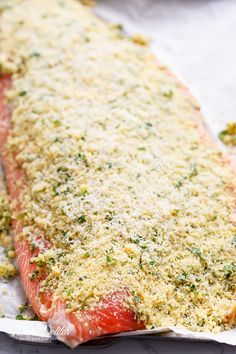 Crispy Garlic Parmesan Salmon   http://cafedelites.com