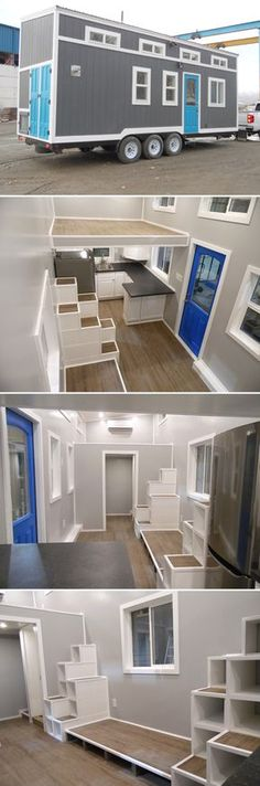 the kate: a 345 sq ft luxury tiny house with two bedrooms and a