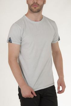 Μπλουζάκι κοντομάνικο σε γκρι ανοικτό πετροπλυμένο αντρικό sorbino
