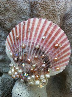 Mermaid Seashell Hair Accessory by LandlockedM3rmaid on Etsy
