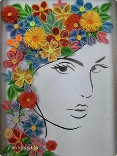 Muurschildering tekening Cutting Quilling Net als de zomer snel Paper strips 4 foto's