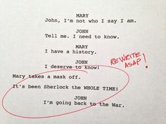 rough drafts from the bbc's sherlock 3 ---- Mary {Sherlock} MARRIED JOHN!!?!??!?!? YESSSSSSS