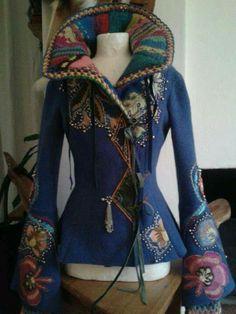 Himmelsgladje [Heavenly joy] by Åsa Örterström Daily Fashion, Boho Fashion, Fashion Design, Mode Hippie, Moda Outfits, Altered Couture, Vintage Cotton, Mode Inspiration, Refashion