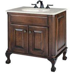 Cole + Co. Large Estate Bathroom Vanity in Antique Brown - http://bathroomvanitiespot.com/cole-co-large-estate-bathroom-vanity-in-antique-brown-cac011-1/