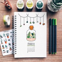 Easy Bullet Journal Ideas To Well Organize & Accelerate Your Ambitious Goals March Bullet Journal, Bullet Journal Notebook, Bullet Journal Spread, Bullet Journal Layout, Bullet Journal Inspiration, Bullet Journals, Doodle Inspiration, Bullet Journal Aesthetic, Journal Design
