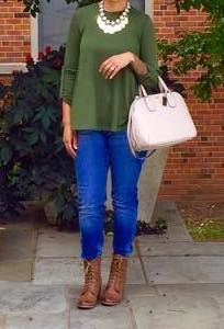 You can never go wrong with, pike shirts, booties and a statement necklace.