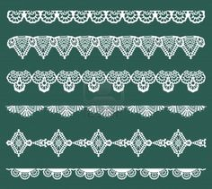 Set of Lace Ribbons - for design and scrapbook - in vector Stock Photo