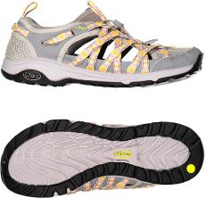d1c303d78729 The women s Chaco OutCross Evo 1 water shoes combine breathable mesh and  webbing uppers with protective toe bumpers for amphibious performance on  the trail ...