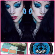 Darling @castlefreak looks stunning in her #sugarpill x #edwardscissorhands palette and Afterparty eyeshadow!  by sugarpill