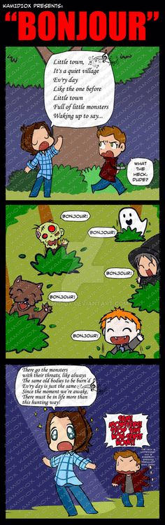 Bonjour by KamiDiox.deviantart.com on @DeviantArt Why did I laugh so much at this tho