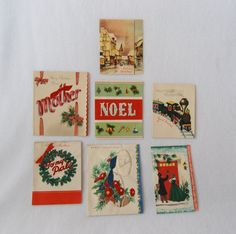 Collection of 7 Vintage Christmas Cards by HappyCloudVintage, $4.50