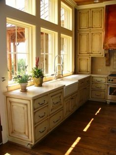 I like having the sink and dishwasher facing the window