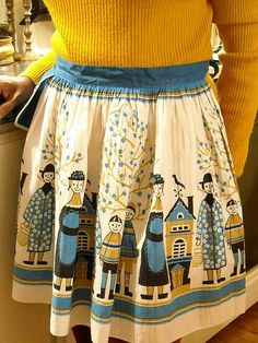 old fashioned fabric in this apron!