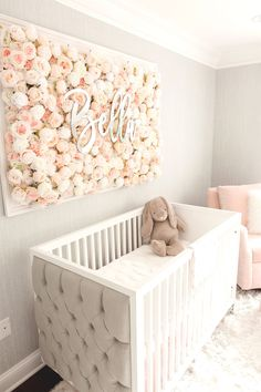 Guess Which Celebrity Nursery Inspired this Gorgeous Space – Project Nursery Baby room – Home Decoration Baby Room Design, Baby Room Decor, Diy Girl Nursery Decor, Girl Nursery Colors, Coral Nursery, Girl Wall Decor, Nursery Room Ideas, Blush Nursery, Nursery Crafts