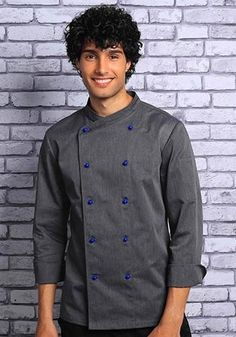 Gray Work Uniforms, Professional Chef, Double Breasted, Chef Jackets, Winter Outfits, Overalls, Gray, Female, Long Sleeve
