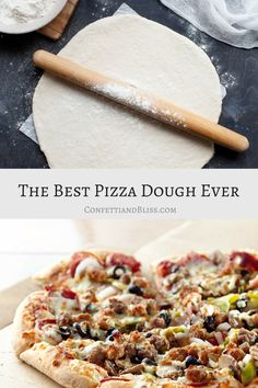 Everyone loves a delicious, homemade pizza from scratch. When hosting a casual pizza party, it& fun for everyone to create their own personal pizzas. Today I& sharing The Best Pizza Dough Recipe Ever. Best Pizza Dough Recipe, Pizza Dough From Scratch, Italian Pizza Dough Recipe, Best Homemade Pizza, Homemade Pizza Recipe, Personal Pizza, Puff Pastry Dough, Delicious Restaurant, Pizza Hut